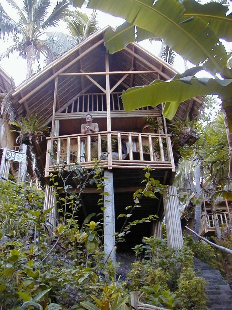 Bambushytte i Coco Beach